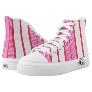Pink Stripes Texture Pattern Printed Shoes