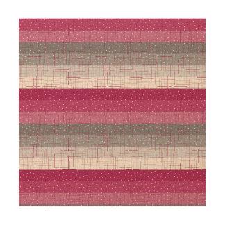 Pink Stripes Wood Canvas