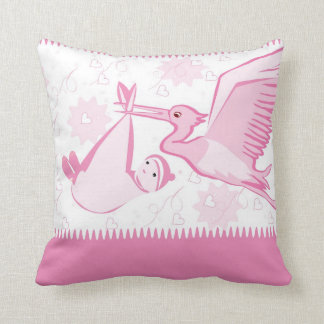 Pink Strok Bringing a Baby Pillow
