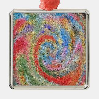 Pink sugar Silver-Colored square decoration