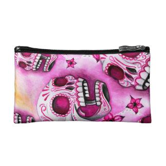 Pink Sugar Skull Cosmetic Bag