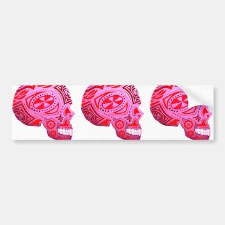 Pink Sugar Skull Skeleton - Tattoo Art Bumper Sticker