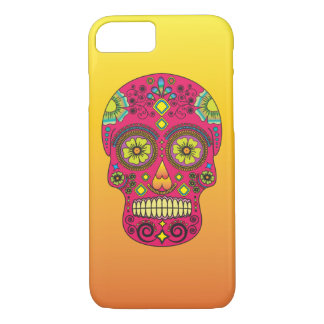Pink Sugar Skull With Gradient Background- iPhone7 iPhone 7 Case