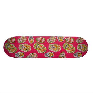 Pink Sugar Skulls Skateboard