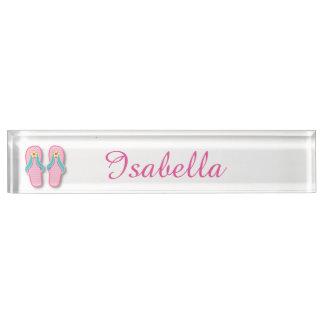 Pink Summer FlipFlops Nameplate