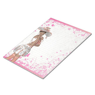 Pink summer girl notepad