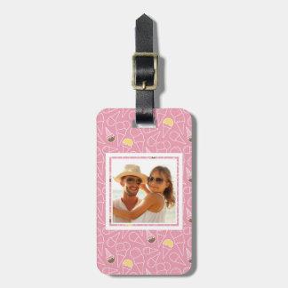 Pink Summer Ice Cream Pattern | Monogram Luggage Tag