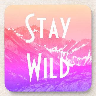 Pink Summer Mountains Coasters