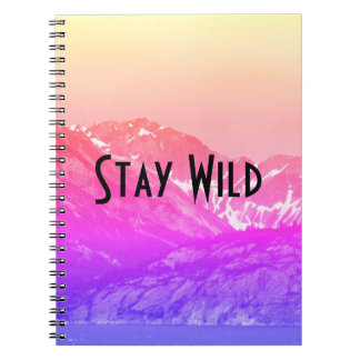 Pink Summer Mountains Notebook