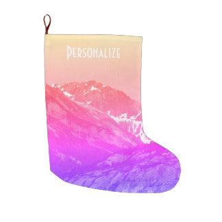 Pink Summer Mountains Stocking
