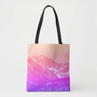 Pink Summer Mountains Tote Bag