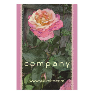 Pink Summer Rose Pack Of Chubby Business Cards