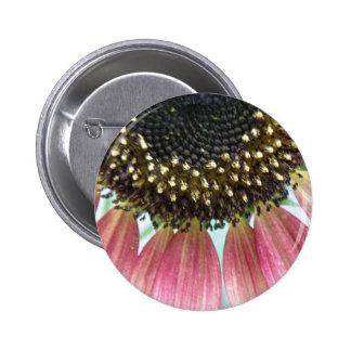 Pink Sunflower Button