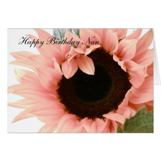 Pink sunflower card