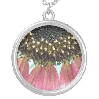 Pink Sunflower Necklace