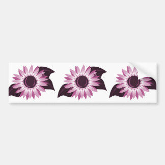 Pink Sunflower With Ladybugs Bumper Sticker