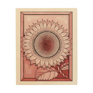 Pink Sunflower Wood Wall Art