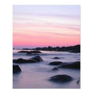 Pink Sunrise Ocean Beach Flyers