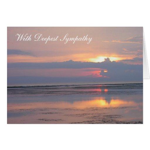 Pink Sunrise Sympathy Card Cards