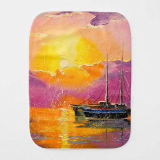 Pink sunset burp cloth