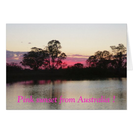 Pink sunset from Australia ! Card