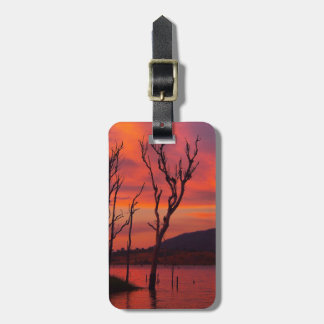 Pink sunset luggage tag