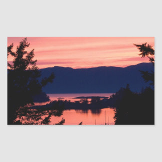 Pink Sunset Over the Ocean Stickers