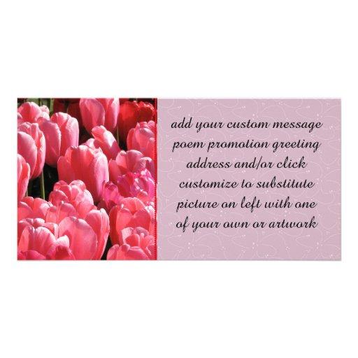 Pink Sunshine Custom Photo Card