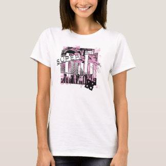 Pink Super bob Spaghetti Strap T-Shirt