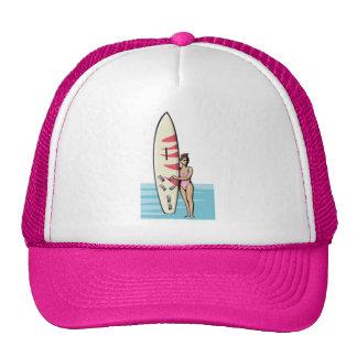 Pink Surfer Girl Cap