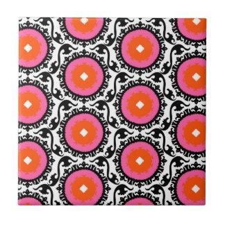 Pink Suzani Pattern Tile