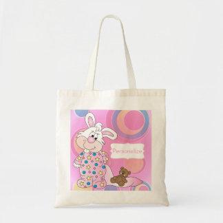 Pink Sweet Bunny Nursery Theme Tote Bags