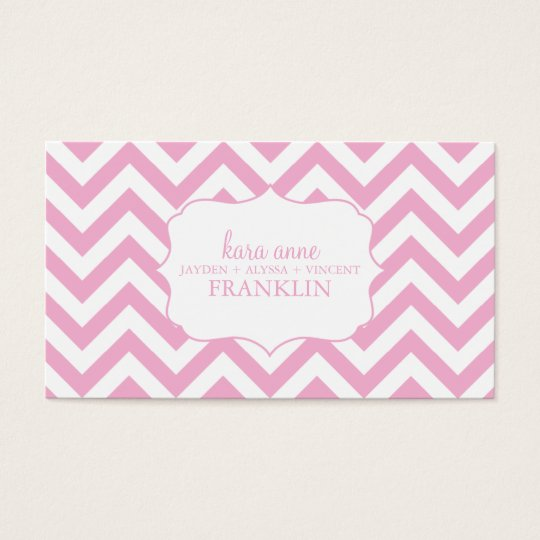 Pink Sweet Chevron Personalised Mummy Contact / Business