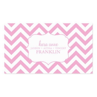 Pink Sweet Chevron Personalized Mommy Contact Business Card