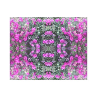 Pink Sweet Pea Fractal Summer 2016 Canvas