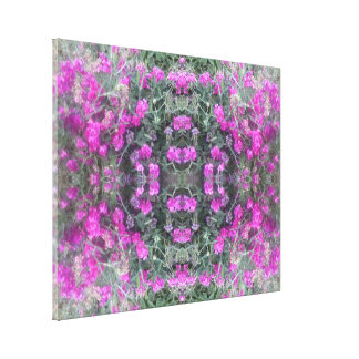 Pink Sweet Pea Fractal Summer 2016 Canvas largest
