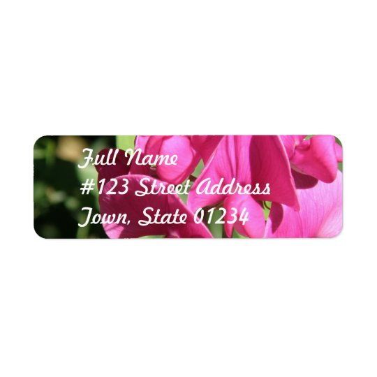 Pink Sweet Pea Mailing Label