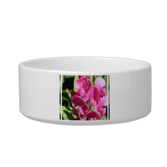Pink Sweet Pea Pet Bowl