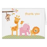 Pink Sweet Safari Note Card Greeting Cards