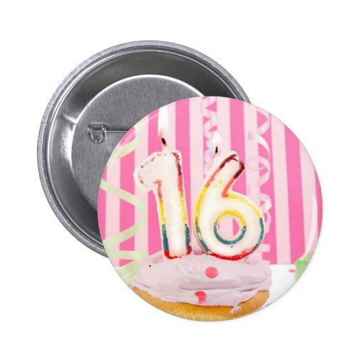 Pink sweet sixteen button