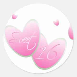 Pink Sweet Sixteen Sticker