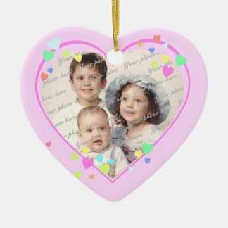 Pink Sweetheart Photo Ceramic Heart Decoration