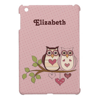 Pink Sweethoot Owls Customized iPad Mini Case