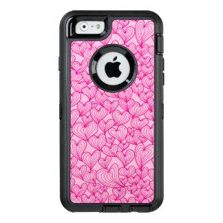 Pink swirl hearts pattern Otterbox iphone case