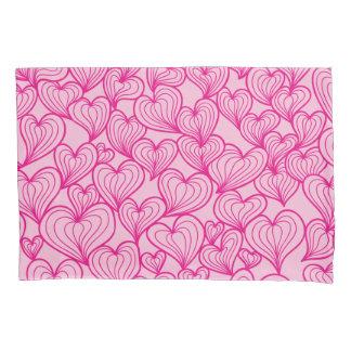 Pink swirl hearts pattern Pillowcase
