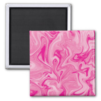 PInk Swirl Pattern Square Magnet