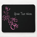 Pink swirl save the date products mouse pad