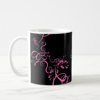 Pink swirl save the date products coffee mug