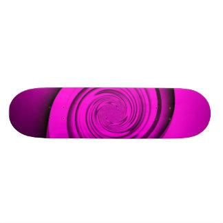 Pink Swirl Skate Board