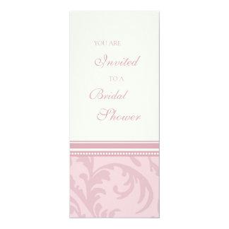 Pink Swirls Bridal Shower Invitation Cards